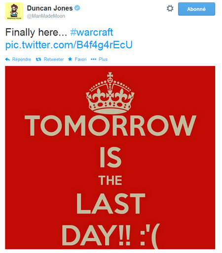 Duncan jones annonce le dernier jour de tournage pour le film warcraft - Dernier jour de solde ...