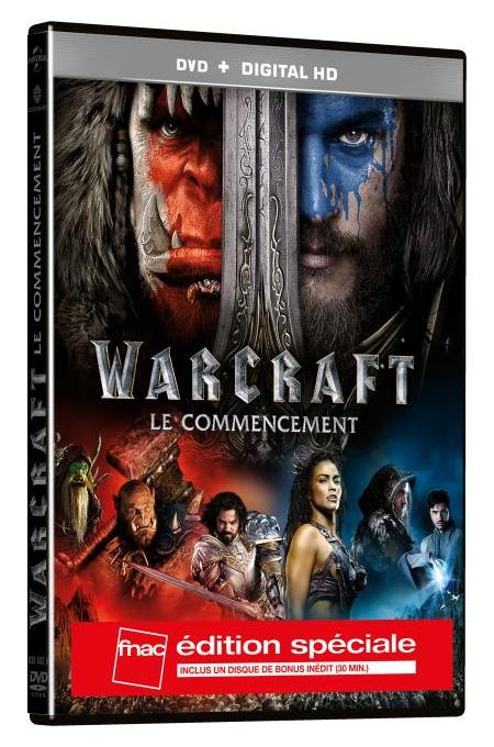 Warcraft: Le Commencement en version DVD Spéciale Fnac.