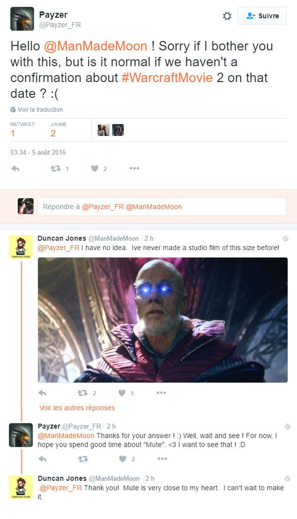 Duncan Jones parle de Warcraft 2.