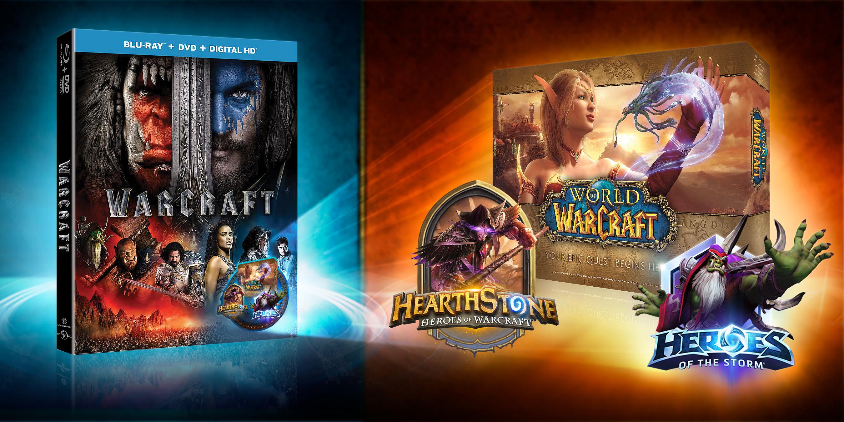 Promotion pour la sortie du film Warcraft en DVD et Blu-ray.